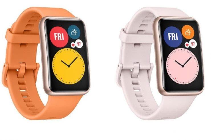 """El smartwatch con pantalla alarga, """"Huawei Watch Fit""""."""