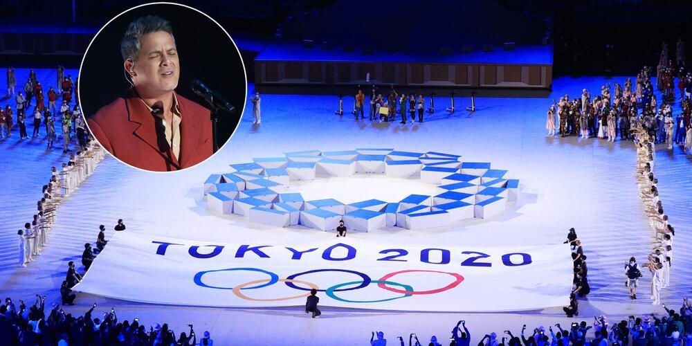 Alejandro Sanz deslumbró con el tema 'Imagine' en los Juegos Olímpicos de Tokio