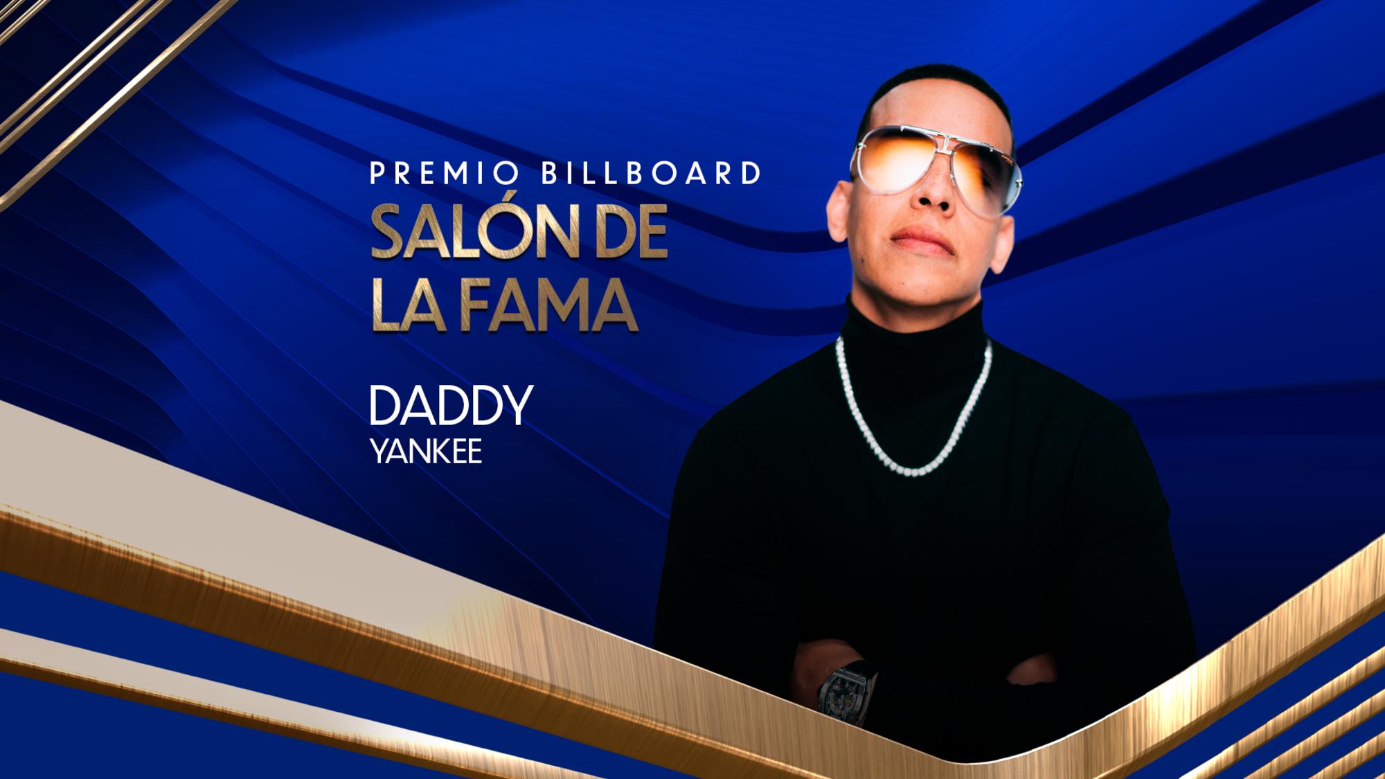 Daddy Yankee será honrado con el premio Billboard Salón de la Fama.